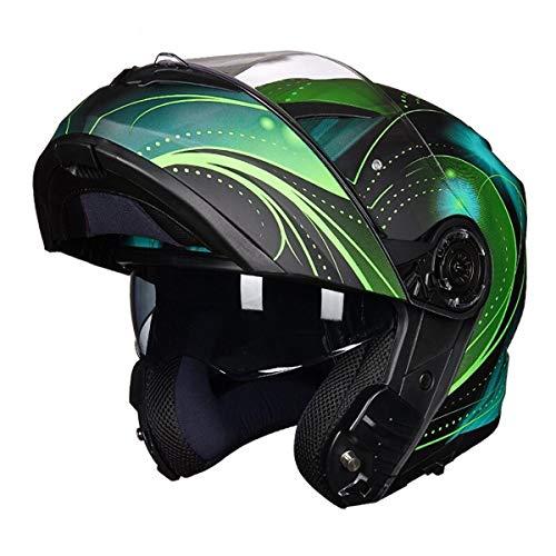 GGXX Cascos Modulares Casco Modular Anti-Vaho Doble Visera Casco Motocicleta Cascos Integrales Casco Scooter Casco De Ciclomotor Certificado por Dot ECE