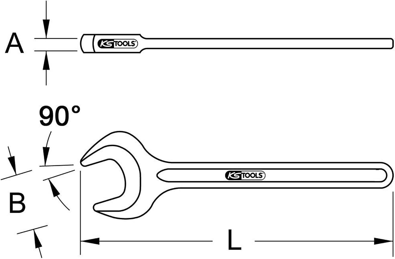 KS Tools 963.7997 BRONZEplus Zugmaulschlüssel 90°, 1.3 8    B00QU7W4BK | Mangelware  dd87cb