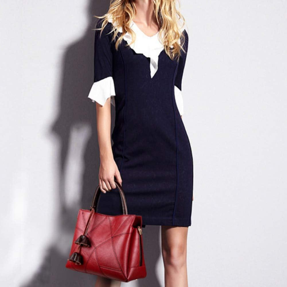 Sac à Main Femme, Messenger Bag Ladies, Style de Mode Sac à Main, Sac bandoulière Intermittent, Couleur Loisirs Multiples,Red Red