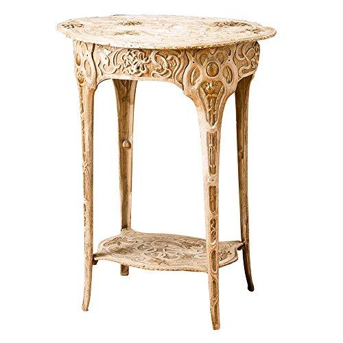 aubaho Tisch 60cm Beistelltisch Blumen Eisen 11,5kg Art Nouveau antik Stil Table Iron