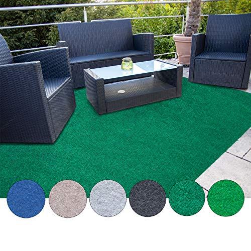 casa pura Estera de césped Artificial Alfombra Exterior Exterior | Adecuado para balcón, terraza y jardín | Múltiples Colores y tamaños | Verde Oscuro - 400x200cm