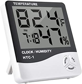 Preciser(TM) Multi-function Indoor Room LCD Electronic Temperature Humidity Meter Digital Thermometer Hygrometer Weather Station Alarm Clock