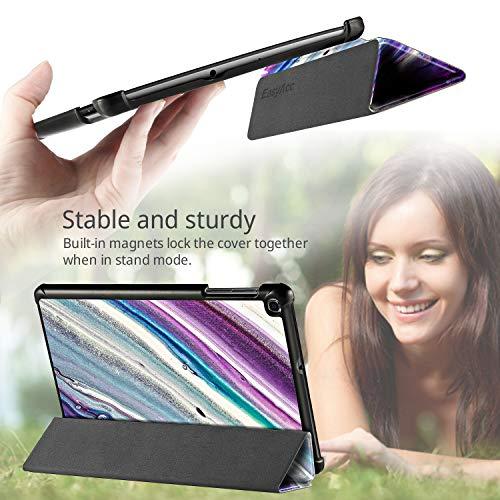 EasyAcc Hülle Kompatibel mit Samsung Galaxy Tab A 10.1 2019 T510/ T515 - Ultra Dünn mit Standfunktion Slim PU Leder Smart Schutzhülle Kompatibel mit Samsung Galaxy Tab A 10.1 Zoll 2019, Treibsand