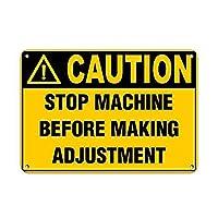 調整スタイルを作成する前に機械を停止する 金属板ブリキ看板警告サイン注意サイン表示パネル情報サイン金属安全サイン