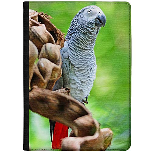 Azzumo African Grey Parrot Portrait Faux Leather Case Cover/Folio for the Vodafone Smart Tab N8 (2017)