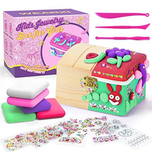 WEARXI Kreativ Schmuckkasten Mädchen, Geschenke für Mädchen, adventskalender mädchen 2020 adventskalender zum befüllen, Mädchen Geschenke 8-12 Jahre, Weihnachten & Geburtstag