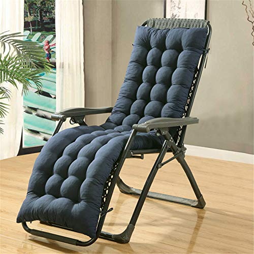 WATESON DAN No Chair-Luxury Coussin de chaise de jardin à dossier haut, assise confortable 48*120cm bleu marine