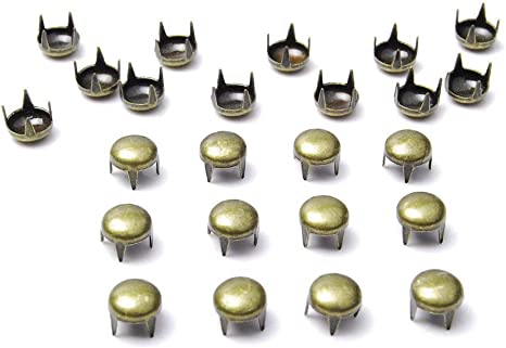 Black Nickel 500pcs 6mm Round Dome Rivets Spike Studs Spots Nailhead Punk Rock DIY Leather Craft for Shoes Clothing Bag Parts Decoration