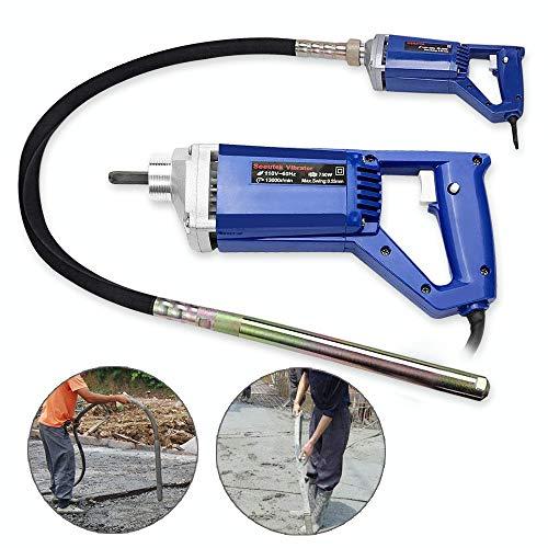 Seeutek Hand Held Concrete Vibrator 1 HP 750W Electric Vibrator 13000 Vibrations per Minute