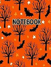 Notebook: Orange Spooky Tree Halloween Journal 8.5 x 11 (Fun Halloween Journals) (Volume 3)