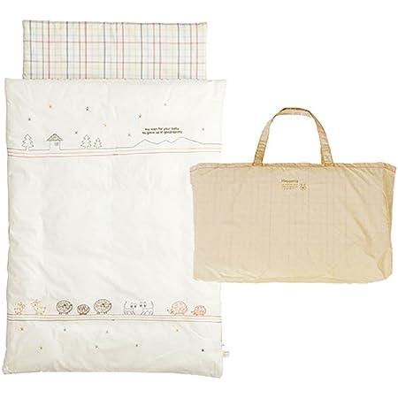 [10mois(ディモワ)-Hoppetta] おひるねふとんセット 保育園に持ち運べるバッグ付き 丸洗い可 どうぶつ 約120cm 新生児~6歳頃まで