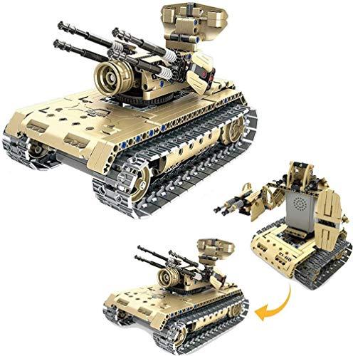 CWT Vehículos de construcción Kits Construir Tanque de Control Remoto, 457Pcs 2,4 g, DIY Modelo de la Asamblea, for el niño y Adulto Regalo de cumpleaños