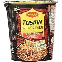 Maggi Fusian Pasta Oriental Noodles Sabor Ternera - Fideos Orientales, Pack of 8 x 61.5g, Total: 492 gr