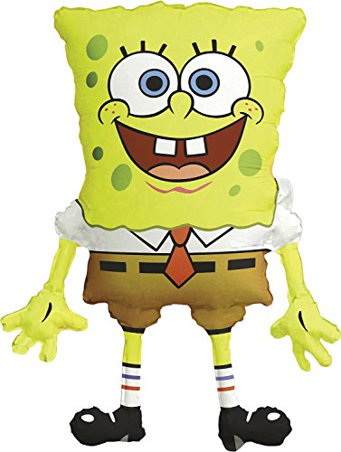 Anagram 6398901 - Party und Dekoration - Folienballon Super Shape - Spongebob Schwammkopf, circa 56 x 71 cm