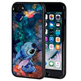 for iPhone 8 Case Fashion Stitch Cartoon Soft TPU for iPhone 8 / iPhone 7 4.7 Inch - Black