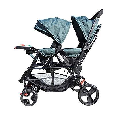 Cochecito de Bebé con Asiento de Cochecito Doble Tándem Doble para Bebé Recién Nacido, Mejor Cochecito Doble