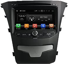 Android 9.0 Octa Core Autoradio Radio DVD GPS navegación Reproductor multimedia estéreo de coche para Ssangyong Korando 2014 Compatible con 3G WiFi Bluetooth de control de volante