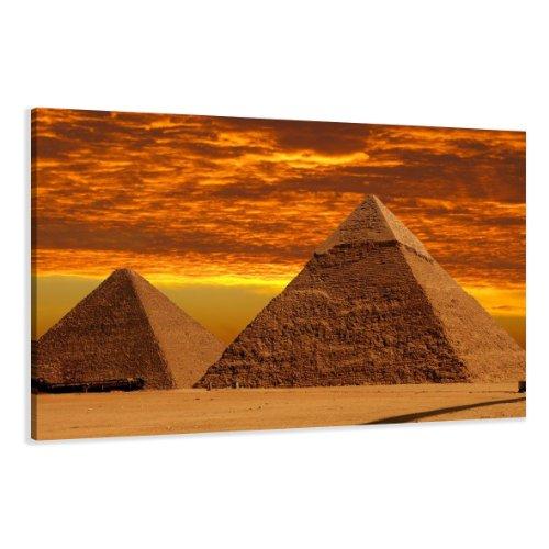 120 x 80 cm cuadro en lienzo egipto pirámide 5013-VKF –Cuadro impresión, Cuadro decoración