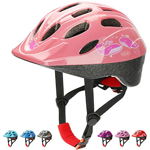 KKAMUGO Bike Helmet, Toddler to Kids, Multi-Sport Helmet, Adjustable,Cycling Skating Skateboard Scooter Bicycle Helmets, Boys and Girls(Age 3-7),14 Vents,Safety & Comfort &Fun&Durable
