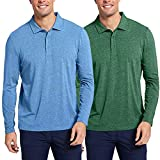 COOFANDY Men's 2 Pack Polo T Shirts Full...