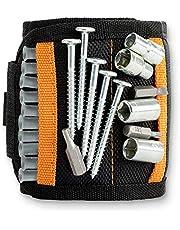 Magnetische armband voor ambachtslieden en doe-het-zelvers, zwart, extra sterk, voor mannen, verjaardag, grappig