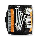 Magnetarmband Handwerker Unviersalgröße schwarz | Magnetisches Handwerker Armband Magnet extra...