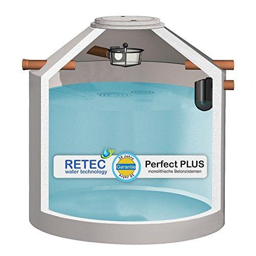 Zisterne 8000 Liter RETEC Betonzisterne ECO, mit Korbfilter und Siphon, frei Haus - TOP - Beton, Betonzisterne, Komplettset