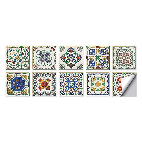 Baño De Gel De Baldosas Y Pegamento De Azulejos Decorado En La Cocina - Pegatinas De Azulejos Espesados - Collage De Azulejos 20*20CM workid-J005