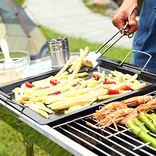 51OB 8cTsfL. SL500  - MUBAY Holzkohlegrill BBQ für Picknick im Freien Einfache Holzkohlegrill Perfekte Faltbare Premium-BBQ-Grill-Edelstahl-Verdickung tragbarer Faltbarer Grill