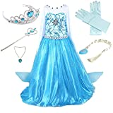 100% SATISFACTION GUARANTEED OR YOUR MONEY BACK Set include : 1 X Dress + 1 X Crown + 1 X Wand + 1 X Necklace + 1 x Silver Wig + 1Pair X Glove Accessories one size fit for kids 3-9 Years The dress is made of super comfy and non scratchy material. Whe...