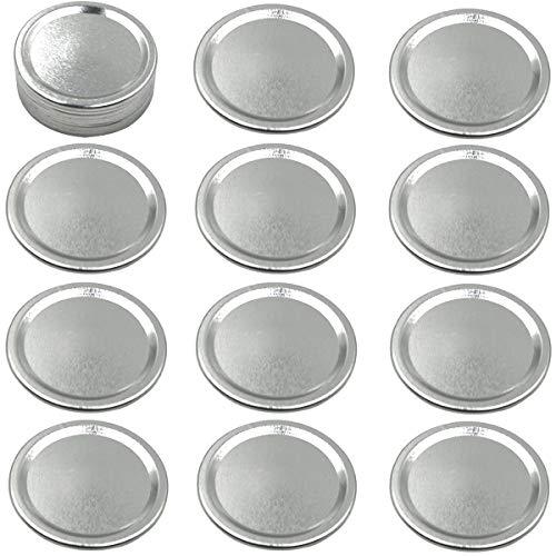 Mason Jar Lids, 12 Pack Regular Mouth Lids for Canning, Leak proof Airtight Split-Type Lids, Secure Mason Canning Lids
