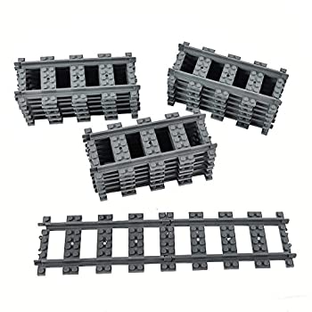 Train Track City Train Road Straight Tracks Building Toy Compatible with Major Brands  18pcs Straight