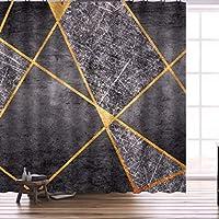 ポリエステル 幾何学 パターン シャワーカーテン,防カビ 速乾 防水 バスルーム カーテン,フック付き 丈夫な バスルームカーテン,ウォッシャブル 浴槽 お風呂用カーテン-F 120x180cm(47x72inch)