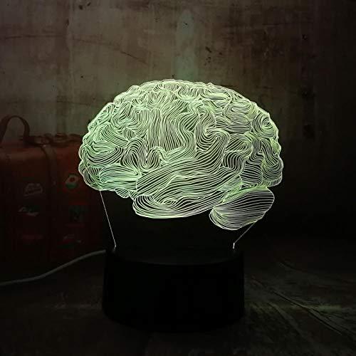 Luz De La Noche Del Cerebro Abstracto 3D Luz Nocturna Led...