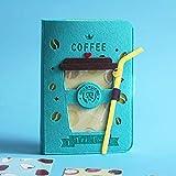 A5 3D Felt 80 Sheets NotebookGel Pen Postcard Planner Agenda 2021 Office Supplies Cute Stationery A5 blue