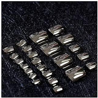 VIKSON INTERNATIONAL 1 Set 24pcs Mirror Shine Chrome Black Artificial False Toe Nails Tips for Nail Art Decorations Foot Manicure Beauty Tools Fake Nails for toe