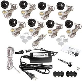DEKOR LED Recessed Stair Lights Step Lighting for Indoor Outdoor Use (Dark Copper Vein, Indoor Light Kit)