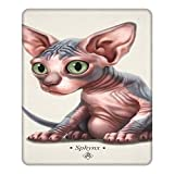 Cat-A-Clysm Sphynx Kitten - Classic Hemming The Gaming Mouse Pad 25 X 30cm Esports Office Study Computer