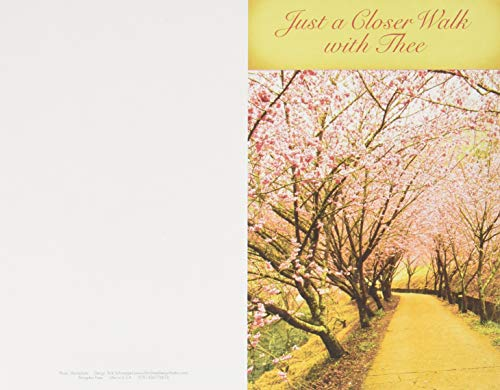 Just a Closer Walk With Thee Hymn & Song Bulletin-Regular