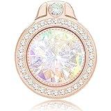 HiChili Soporte de anillo para teléfono móvil con purpurina y brillantes, anillo de teléfono con diamantes brillantes, anillo de dedo para iPhone, Samsung, HUAWEI, LG, Sony, oro rosa