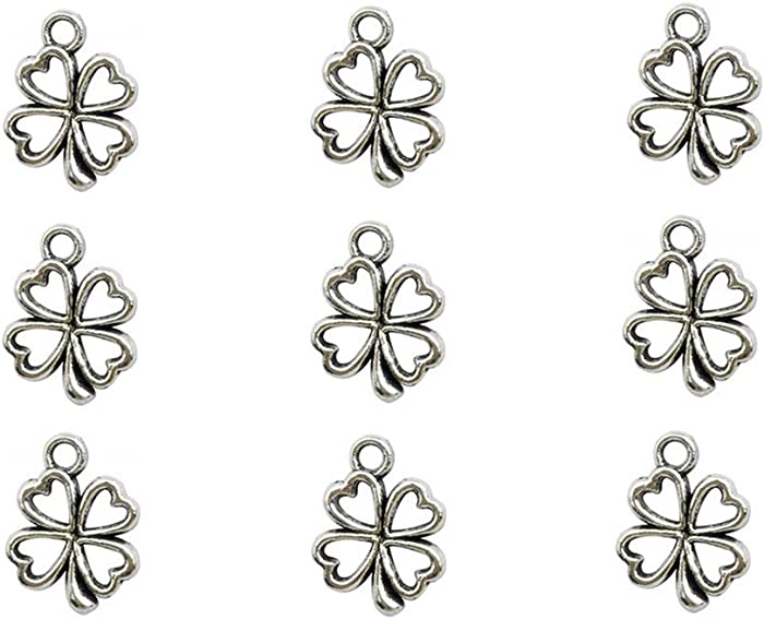 The Best Four Leaft Clover Apple Necklace