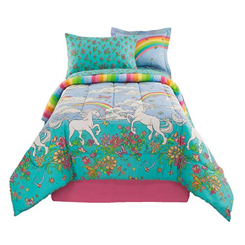 Kidz Mix Unicorn 6 Piece Bed in a Bag, Twin, Multicolor