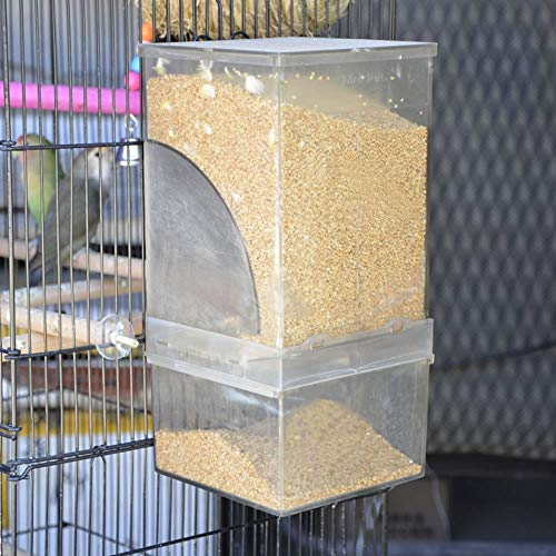 Mrli Pet Parrot Automatic Feeders,No Mess Bird Feeder Large Size High Capacity for Parakeet Cockatiel Budgie Lovebirds