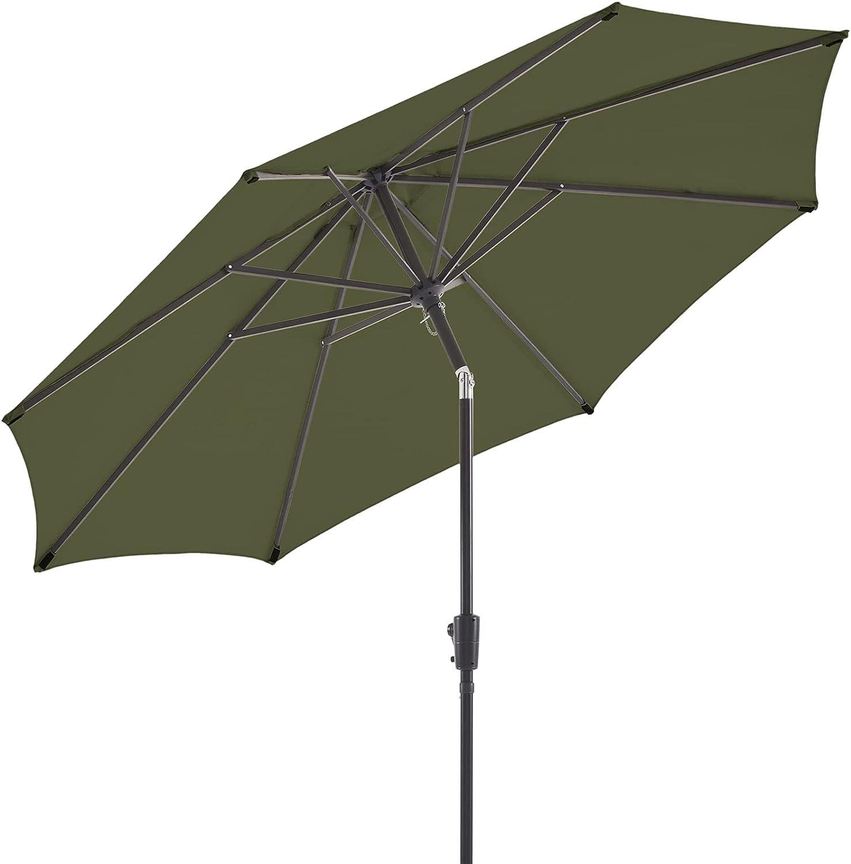 BLUU Olefin 9 FT Patio Table Umbrella Market Umbrellas Outdoor service Austin Mall