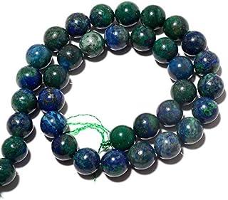 Jaipur Gems Mart AAA Natural 1 de Piedras Preciosas Perlas Azurita Strand para Hacer la joyería | 6 mm Alrededor de Granos...