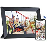 WiFi Digital Picture Frame, 10.1 Inch Digital Photo Frame with IPS Touch Screen, Built-in 16GB Storage, Auto-Rotate, Easy Setup to Share Photos or Videos via Free App Frameo, Ideal Gift Choice, ARUNGO