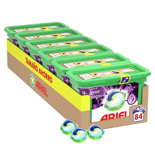 Ariel Pods Detergente Lavadora Cápsulas, 84 Lavados (Pack 6 x 14) con Lenor UNstoppables