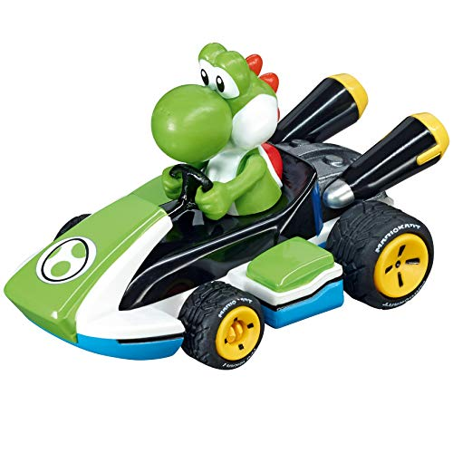 Carrera Pull & Speed 15818312 Official Licensed Nintendo Mario Kart 8 Kids Toy Pull Back Car - Yoshi