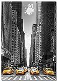 Panorama Póster Taxis New York 50 x 70 cm Impreso en Papel 250gr Póster Pared Cuadros Decoración Salón Cuadros para Dormitorio Póster Decorativos Cuadros Modernos