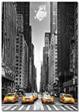 Panorama Lienzo Taxis New York 21 x 30 cm - Impreso en...